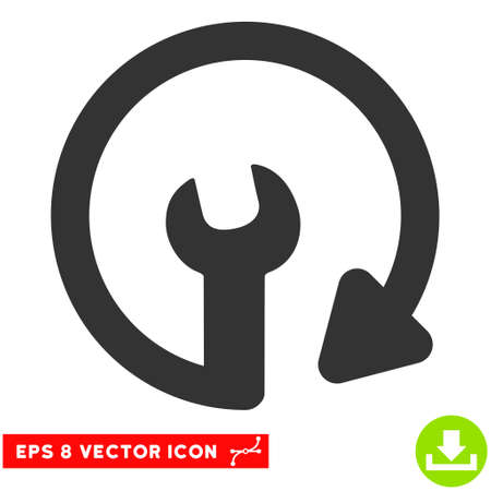 eps vector icon: Repeat Service EPS vector icon. Illustration style is flat iconic gray symbol on white background.
