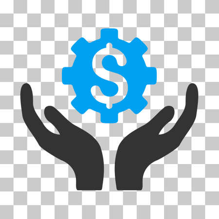 Blue And Gray Maintenance Price toolbar icon. Vector pictograph style is a flat bicolor symbol on chess transparent background.