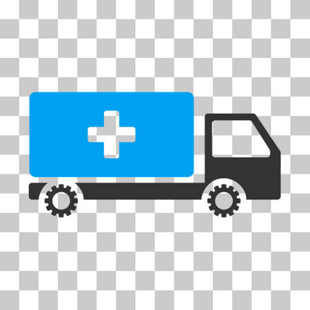 medicine wheel: Blue And Gray Service Car toolbar pictogram. Vector pictogram style is a flat bicolor symbol on chess transparent background.