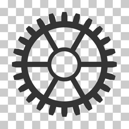 Gray Clock Wheel interface icon. Vector pictograph style is a flat symbol on chess transparent background.