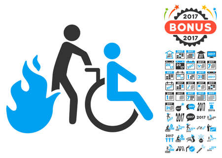 Man On Wheelchair Disabled Emergency Exit Icon Royalty Free