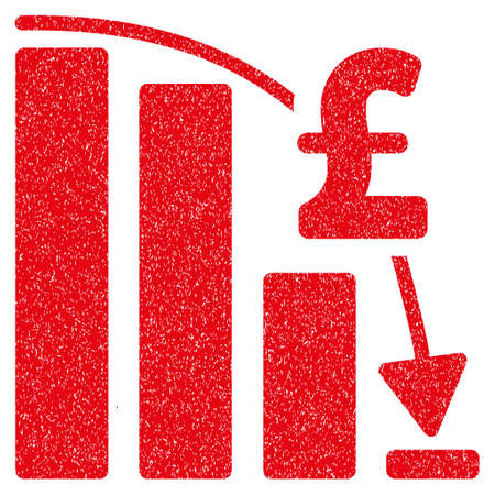epic: Pound Financial Epic Fail grainy textured icon for overlay watermark stamps. Flat symbol with unclean texture. Dotted vector red ink rubber seal stamp with grunge design on a white background.