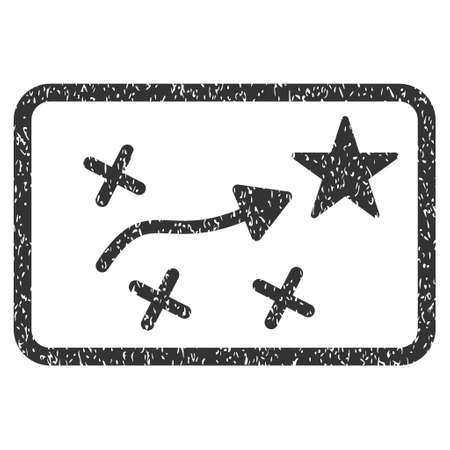 Route Plan grainy textured icon for overlay watermark stamps. Flat symbol with unclean texture. Dotted vector gray ink rubber seal stamp with grunge design on a white background.