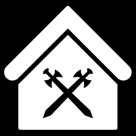 Guard Office Icon Glyph Style Is Flat Iconic Symbol White Color