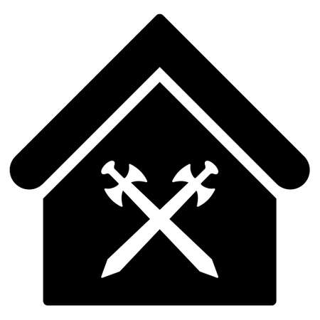 Guard Office Icon Glyph Style Is Flat Iconic Symbol Black Color
