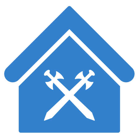 Guard Office Icon Glyph Style Is Flat Iconic Symbol Cobalt Stock