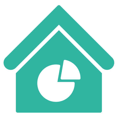 Realty Pie Chart Icon Glyph Style Is Flat Iconic Symbol Cyan
