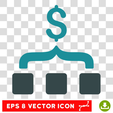collect: Collect Money vector icon. Image style is a flat soft blue iconic symbol.