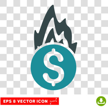 damage: Fire Damage vector icon. Image style is a flat soft blue iconic symbol.