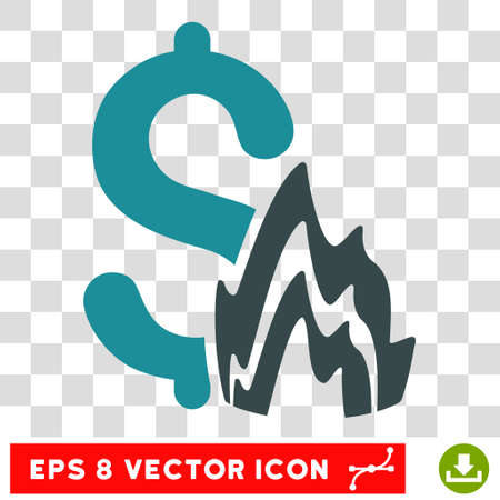 Fire Disaster vector icon. Image style is a flat soft blue pictogram symbol. Illustration