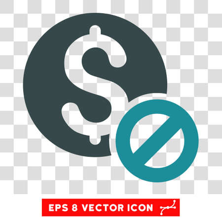 disallowed: Free of Charge vector icon. Image style is a flat soft blue iconic symbol.