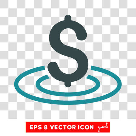market place: Money Area vector icon. Image style is a flat soft blue pictogram symbol.