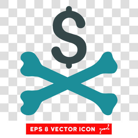 Mortal Debt vector icon. Image style is a flat soft blue icon symbol.