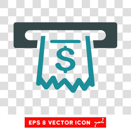 receipt: Paper Receipt Terminal vector icon. Image style is a flat soft blue icon symbol. Illustration