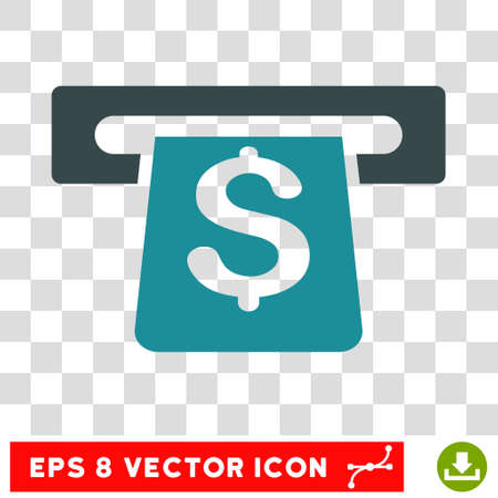 automatic transaction machine: Payment Terminal vector icon. Image style is a flat soft blue iconic symbol. Vectores