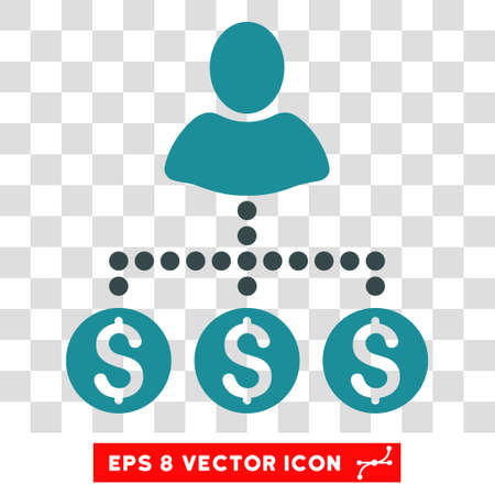 User Payments vector icon. Image style is a flat soft blue icon symbol.