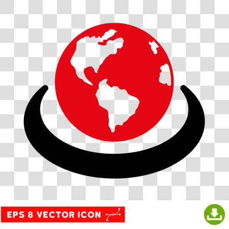 Vector International Network EPS vector icon. Illustration style is flat iconic bicolor intensive red and black symbol on a transparent background.