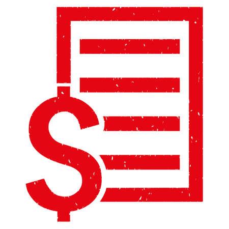 Finanzielle Vertrag Dokument körnig strukturierte Symbol für Overlay-Wasserzeichen Briefmarken. Flaches Symbol mit unsauberer Beschaffenheit. Punktierter Gummidichtungsstempel des roten Gummis der Tinte mit Schmutzdesign auf einem weißen Hintergrund.