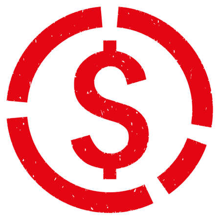 Financial Diagram grainy textured icon for overlay watermark stamps. Flat symbol with dirty texture. Dotted vector red ink rubber seal stamp with grunge design on a white background.