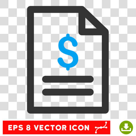 enumerate: Price List EPS vector pictogram. Illustration style is flat iconic bicolor blue and gray symbol on white background. Illustration