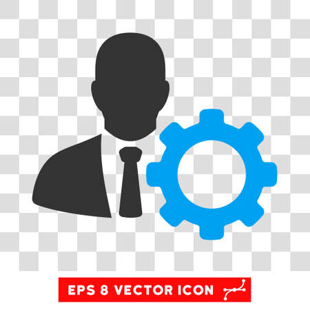 eps vector icon: Serviceman EPS vector icon. Illustration style is flat iconic bicolor blue and gray symbol on white background.
