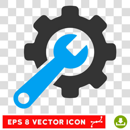 Tools EPS vector pictogram. Illustration style is flat iconic bicolor blue and gray symbol on white background. Illustration
