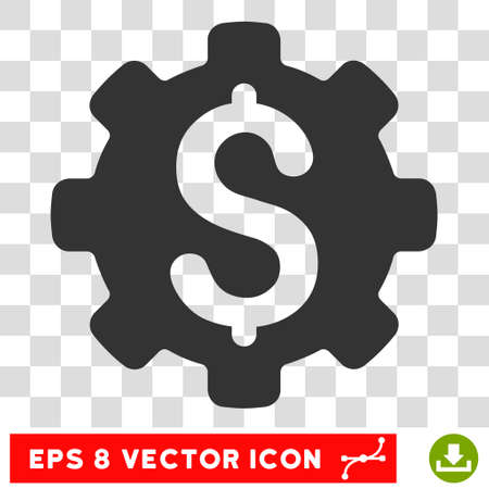commerce and industry: Industrial Capital EPS vector pictogram. Illustration style is flat iconic gray symbol on white background. Illustration