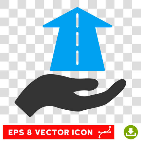 eps vector icon: Future Care Hand EPS vector icon. Illustration style is flat iconic bicolor blue and gray symbol on white background. Illustration