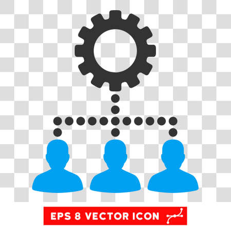 Service Staff EPS vector icon. Illustration style is flat iconic bicolor blue and gray symbol on white background.
