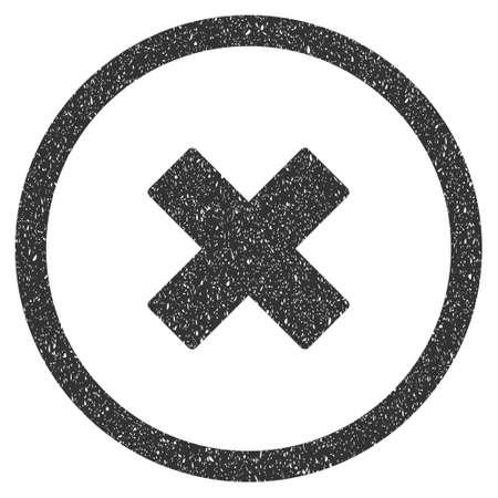 Delete X Cross Rubber Seal Stamp Watermark Icon Symbol Inside