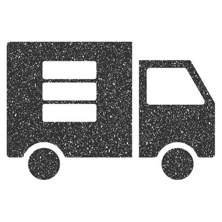 Data Transfer Van rubber seal stamp watermark. Icon symbol with grunge design and dirty texture. Scratched vector gray ink sticker on a white background.