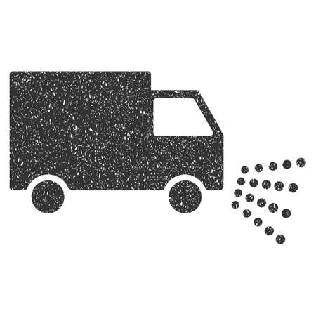 Washing Car rubber seal stamp watermark. Icon symbol with grunge design and dirty texture. Scratched vector gray ink emblem on a white background. Vectores