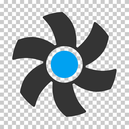rotor: Rotor square icon. Vector pictogram style is a flat bicolor symbol, blue and gray colors, chess transparent background.