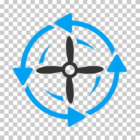 Screw Rotation square icon. Vector pictogram style is a flat bicolor symbol, blue and gray colors, chess transparent background.