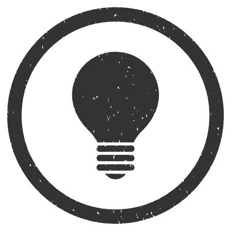 electric bulb: Electric Bulb rubber seal stamp watermark. Icon vector symbol with grunge design and dirty texture. Scratched gray ink sticker on a white background. Illustration