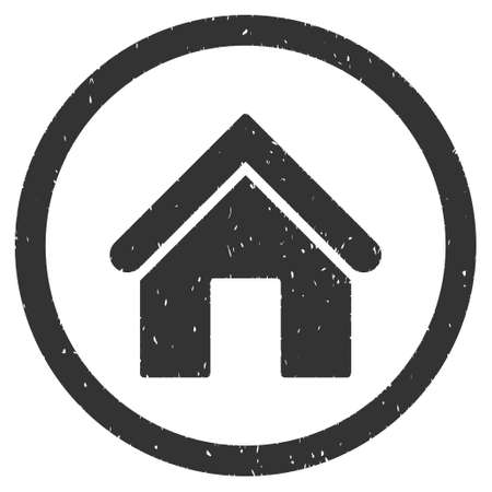 homeland: Home rubber seal stamp watermark. Icon vector symbol with grunge design and dirty texture. Scratched gray ink sign on a white background.