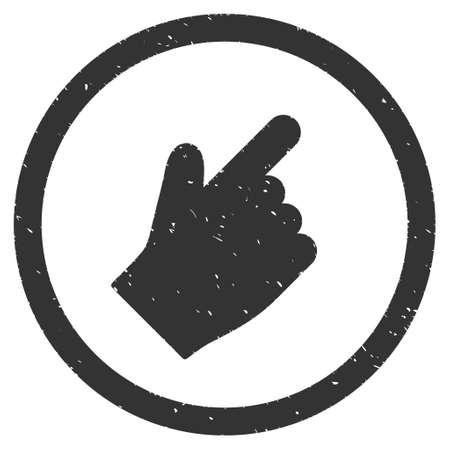 northeast: Index Finger Right Up Direction rubber seal stamp watermark. Icon vector symbol with grunge design and dirty texture. Scratched gray ink sticker on a white background.