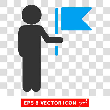 general manager: Child Commander EPS vector pictograph. Illustration style is flat iconic bicolor blue and gray symbol.