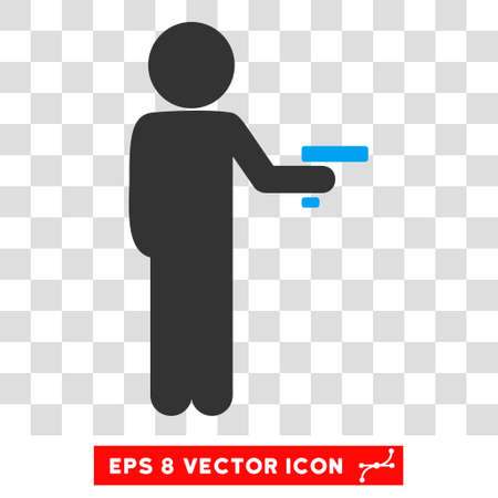 ruffian: Child Robber EPS vector pictograph. Illustration style is flat iconic bicolor blue and gray symbol.