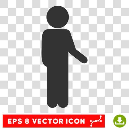 poke: Child Idler EPS vector icon. Illustration style is flat iconic gray symbol.