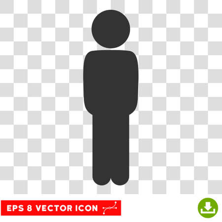 mate: Child Standing Pose EPS vector icon. Illustration style is flat iconic gray symbol.