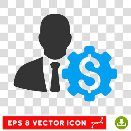 eps vector icon: Banker Options EPS vector icon. Illustration style is flat iconic bicolor blue and gray symbol.