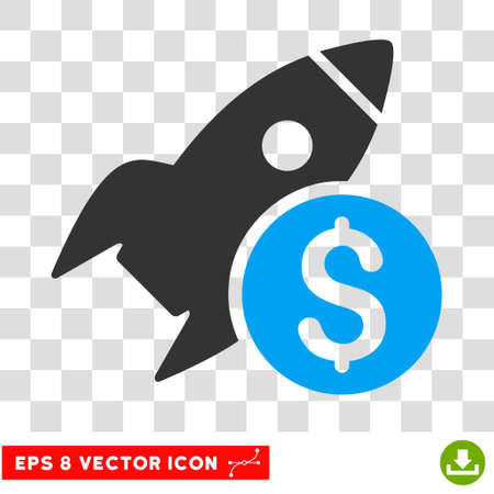 eps vector icon: Business Startup EPS vector icon. Illustration style is flat iconic bicolor blue and gray symbol.