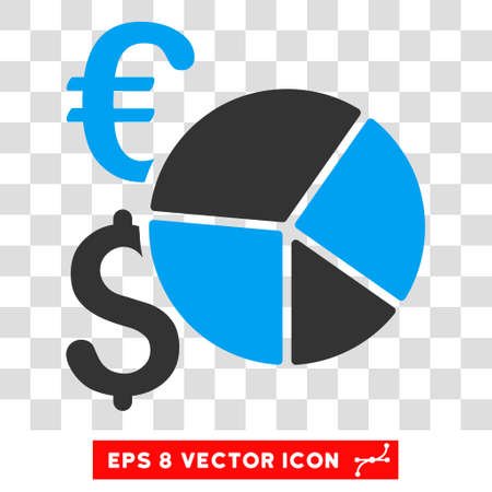 eps vector icon: Financial Pie Chart EPS vector icon. Illustration style is flat iconic bicolor blue and gray symbol. Illustration