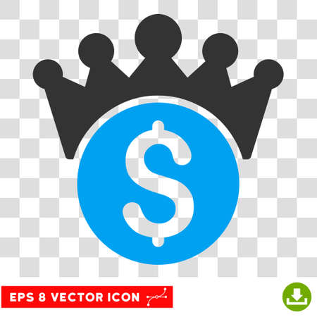 Financial Power EPS vector icon. Illustration style is flat iconic bicolor blue and gray symbol.