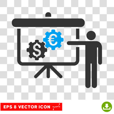 international banking: International Banking Project EPS vector pictogram. Illustration style is flat iconic bicolor blue and gray symbol. Illustration