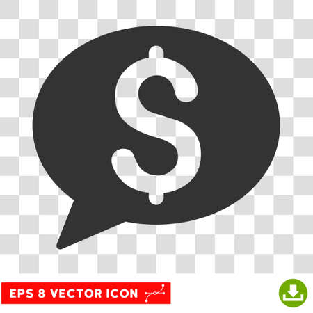 Bank Message EPS vector pictograph. Illustration style is flat iconic gray symbol. Illustration