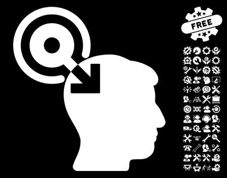 configure: Brain Interface Plug-In icon with bonus configuration clip art. Vector illustration style is flat iconic symbols on white background.