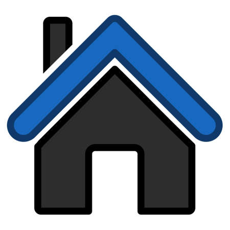 homeland: Home toolbar icon. Vector pictograph style is a flat symbol with contour edges. Illustration
