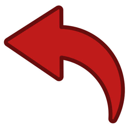 Undo interface icon. Vector pictograph style is a flat symbol with contour edges.